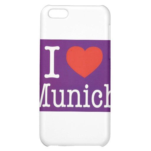 I Love Munich Purple iPhone 5C Cases