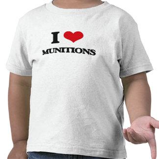 I Love Munitions T-shirts