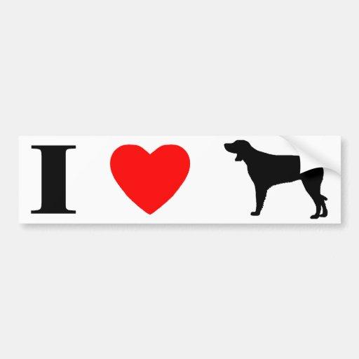 I Love Munsterlanders Bumper Sticker
