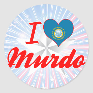 I Love Murdo, South Dakota Round Sticker