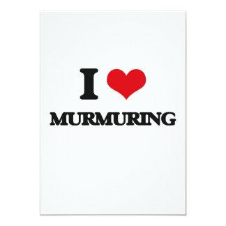 I Love Murmuring 13 Cm X 18 Cm Invitation Card