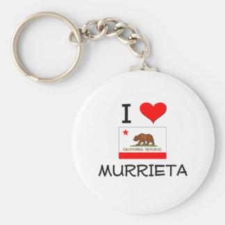 I Love MURRIETA California Basic Round Button Key Ring