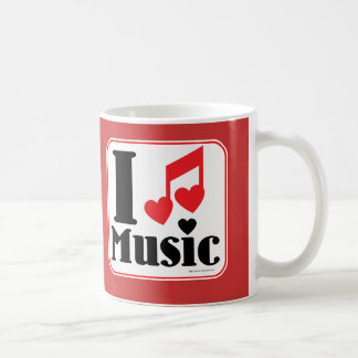 I love music! basic white mug