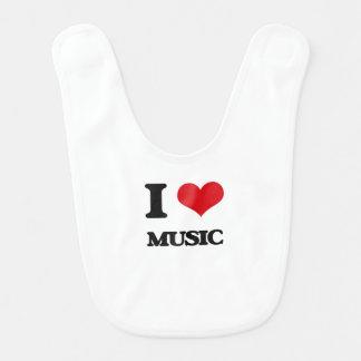 I Love Music Bib