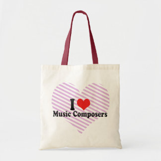 I Love Music Composers Canvas Bag