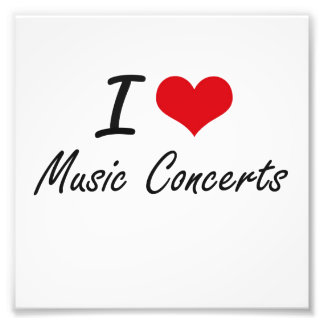 I Love Music Concerts Photographic Print