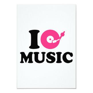 I love music DJ 3.5x5 Paper Invitation Card