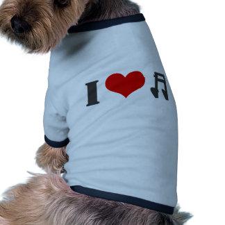I Love Music Ringer Dog Shirt