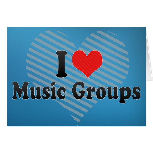 I Love Music Groups Cards