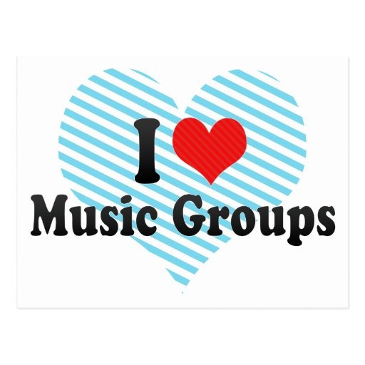 I Love Music Groups Post Card