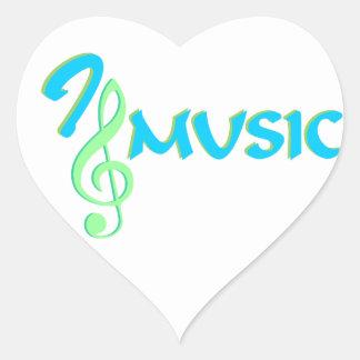 I love music heart sticker