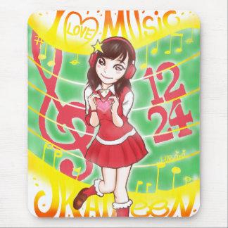 I LOVE MUSIC JK AILEEN 1224 MOUSE MAT