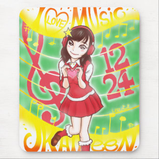 I LOVE MUSIC JK AILEEN 1224 MOUSE PAD