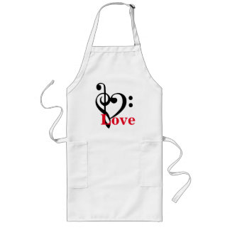 I Love Music Long Apron