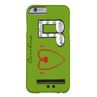 I Love Music  Lovers Custom Name iPhone 6 case Barely There iPhone 6 Case