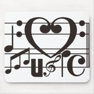 I LOVE MUSIC MOUSE MATS