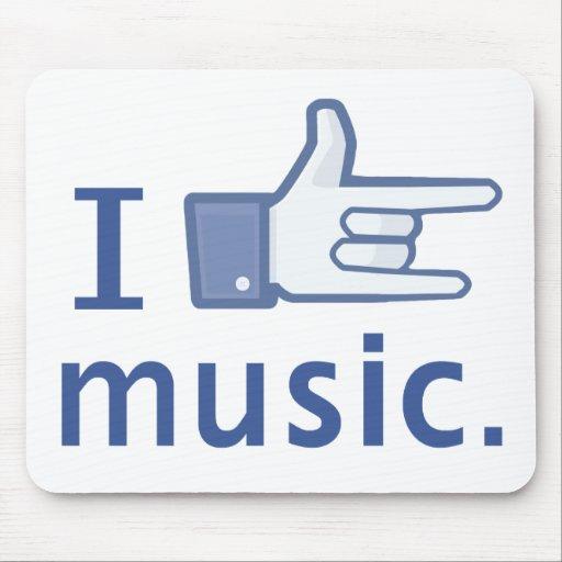 I Love Music mousepad