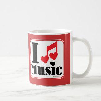 I love music! classic white coffee mug