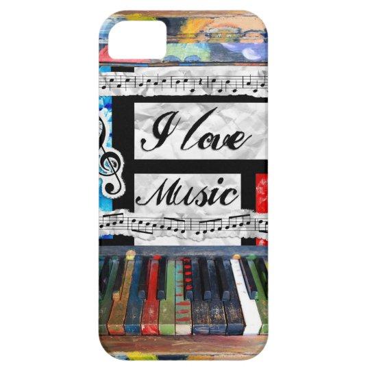 I Love Music Musical Notes Piano Keys Phone