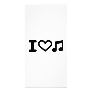 I love music note photo greeting card