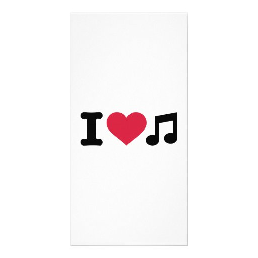 I love music note picture card
