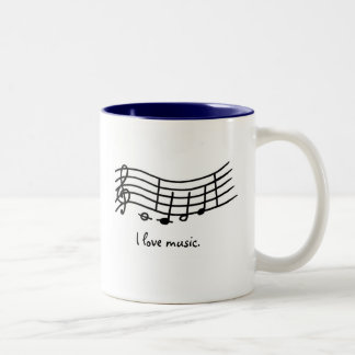 I love music, notes on wavy scale mugs
