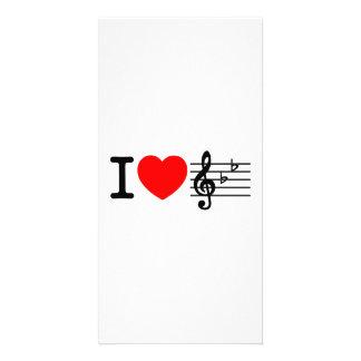 I Love Music Photo Greeting Card