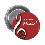 I Love Music Pin