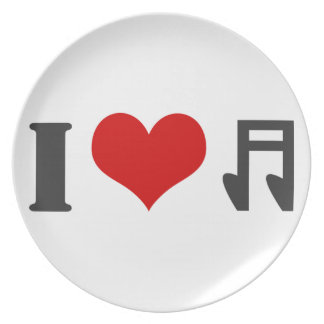 I Love Music Party Plates