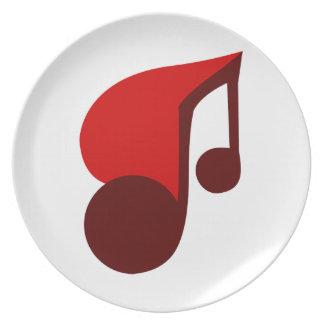 I Love Music Plate
