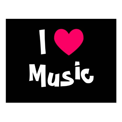 I Love Music Post Cards