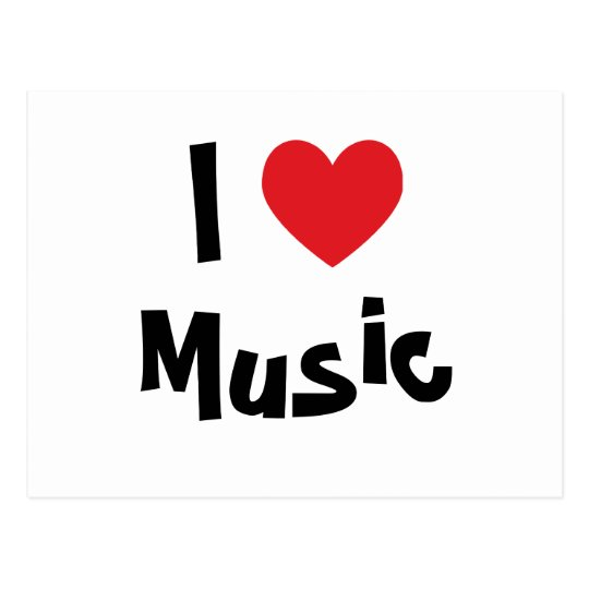 I Love Music Postcard