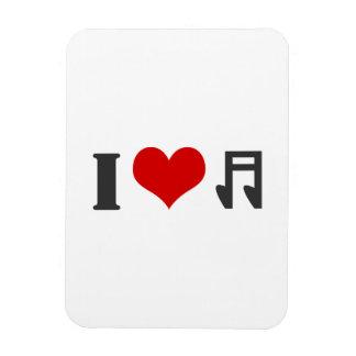 I Love Music Flexible Magnets