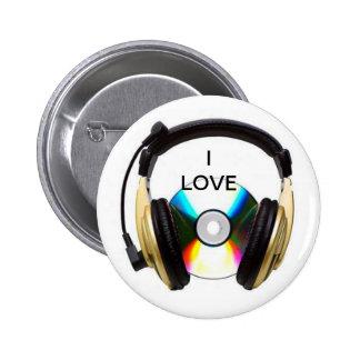 i love music round button
