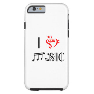 I Love Music Tough iPhone 6 Case