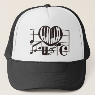 I LOVE MUSIC TRUCKER HAT
