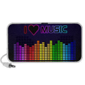 I Love Music with Equilizer Speaker