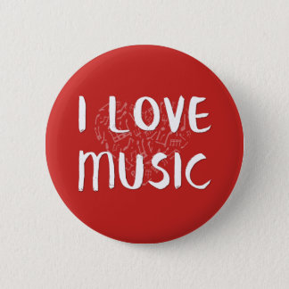 I Love Music With Heart Button