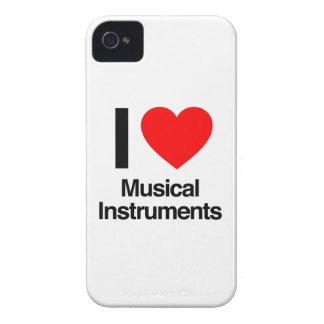 i love musical instruments iPhone 4 Case-Mate cases