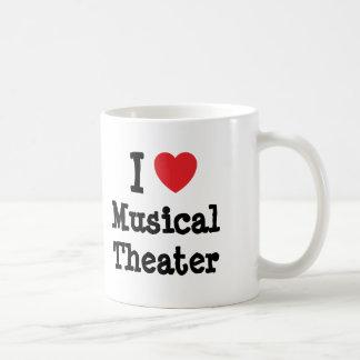 I love Musical Theater heart custom personalized Coffee Mug