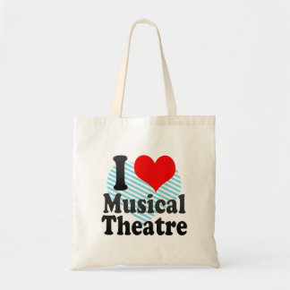 I love Musical Theatre Tote Bags