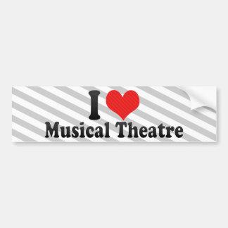 I Love Musical Theatre Bumper Sticker