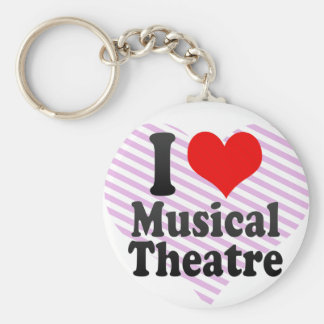 I love Musical Theatre Basic Round Button Key Ring