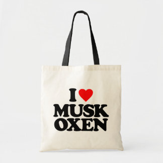 I LOVE MUSK OXEN TOTE BAG