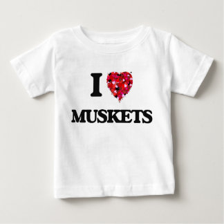 I Love Muskets Infant T-Shirt