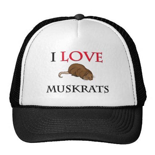 I Love Muskrats Mesh Hats