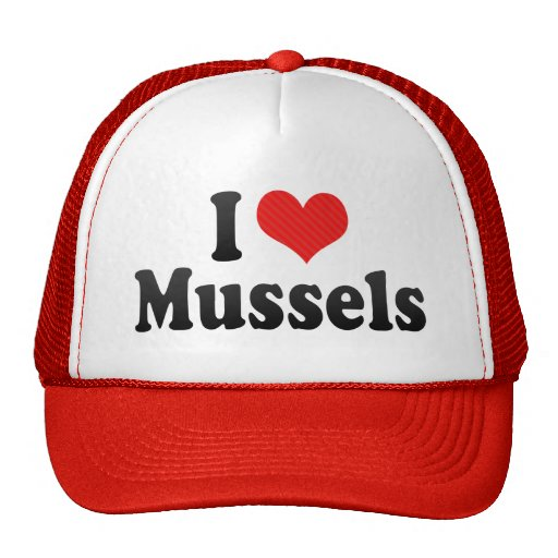 I Love Mussels Hat
