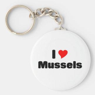 I love mussels key ring