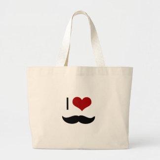 I love mustache canvas bags