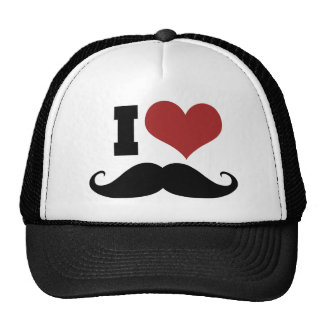 I Love Mustache Cap